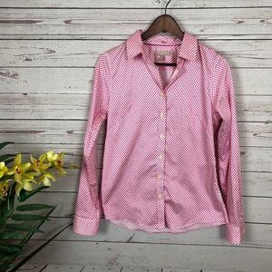 Banana Republic Non-Iron Fitted Pink Shirt - S5